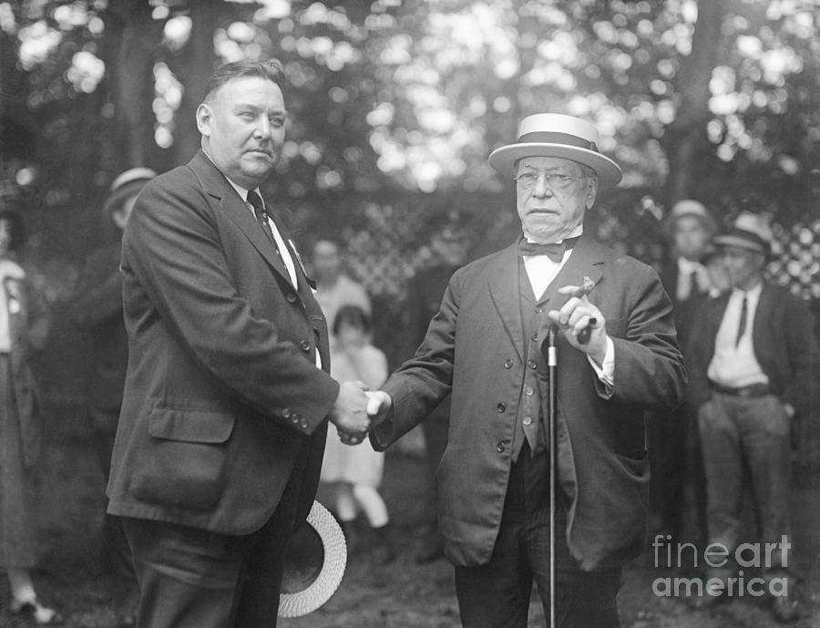 Samuel Gompers And J. Benjamin Harrison Photograph by Bettmann