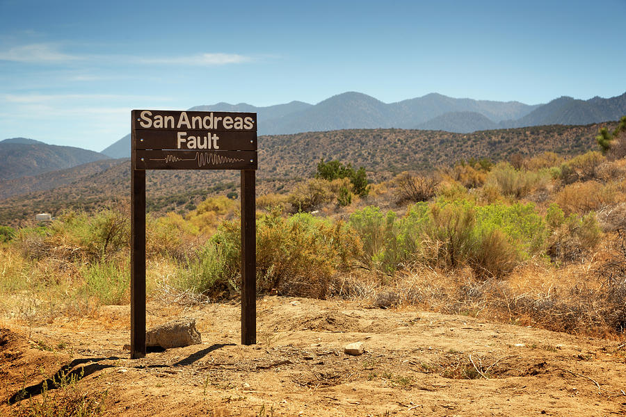 San Andreas Fault Photograph - San Andreas Fault by Ricky Barnard