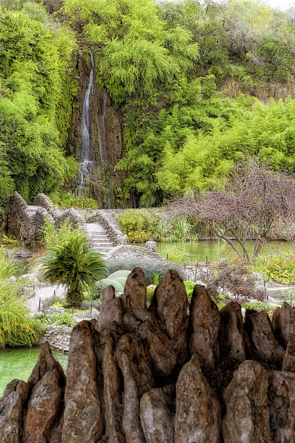 San Antonio Japanese Tea Garden - Texas - Waterfall by Jason Politte