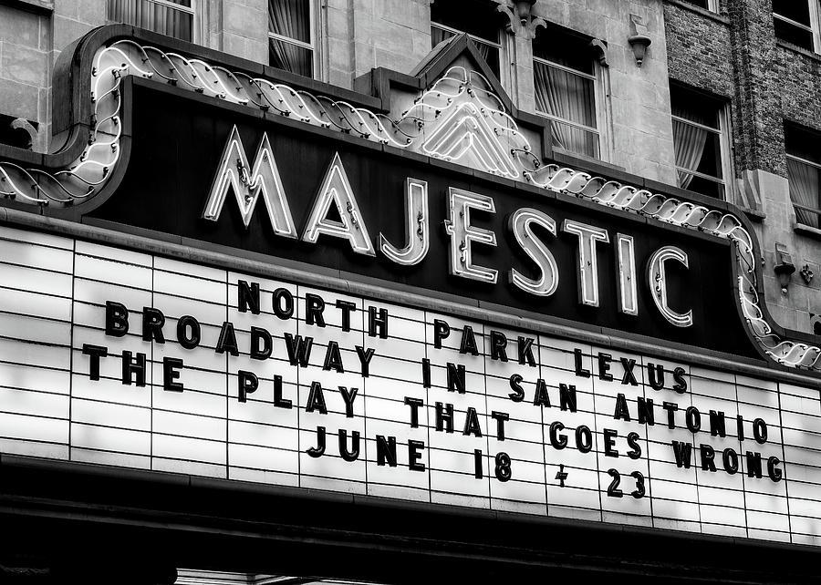 Majestic Photograph - San Antonio Majestic Theatre by Stephen Stookey