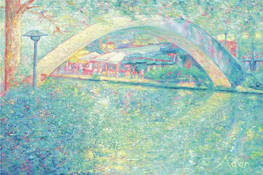 Walking Bridge Painting - San Antonio Riverwalk by Felipe Adan Lerma