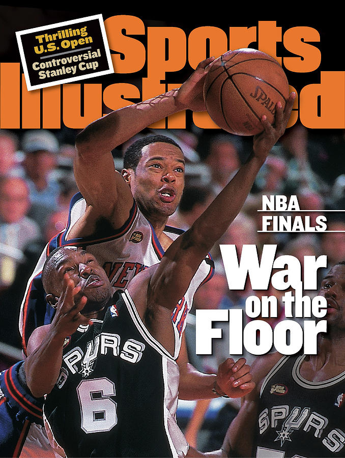 San Antonio Spurs Avery Johnson, 1999 Nba Finals Sports Illustrated Cover Photograph by Sports Illustrated