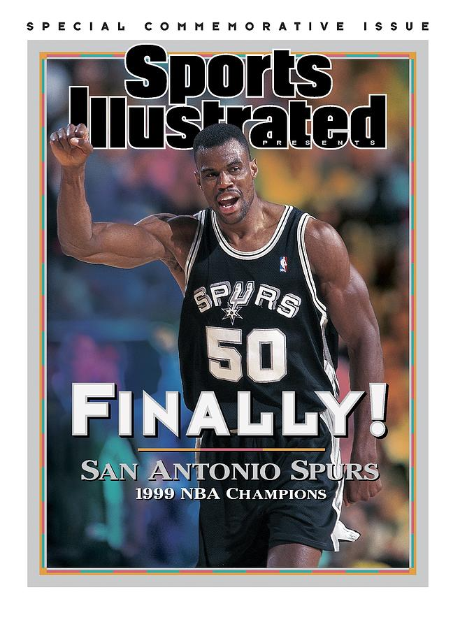 San Antonio Spurs David Robinson, 1999 Nba Western Sports Illustrated Cover Photograph by Sports Illustrated