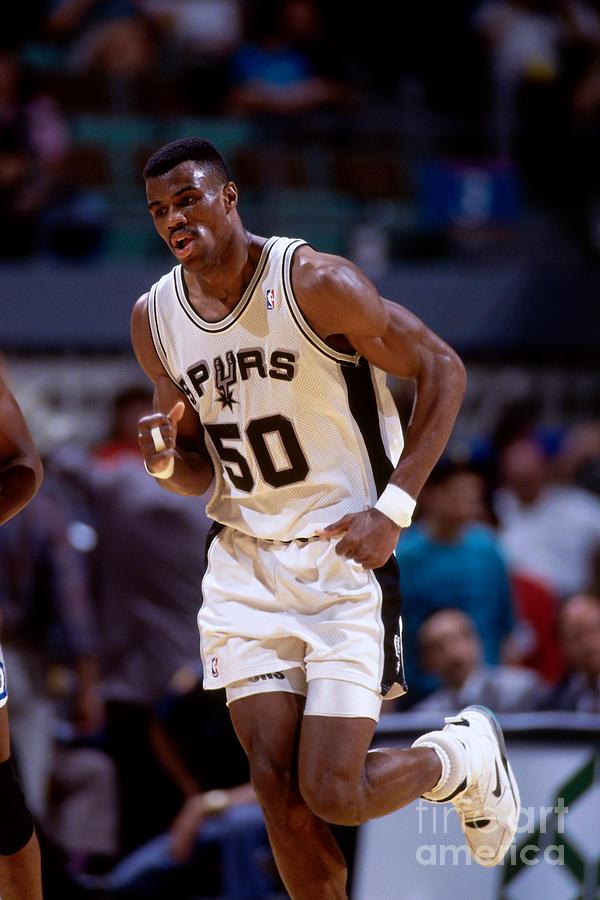 San Antonio Spurs David Robinson Photograph by Andy Hayt