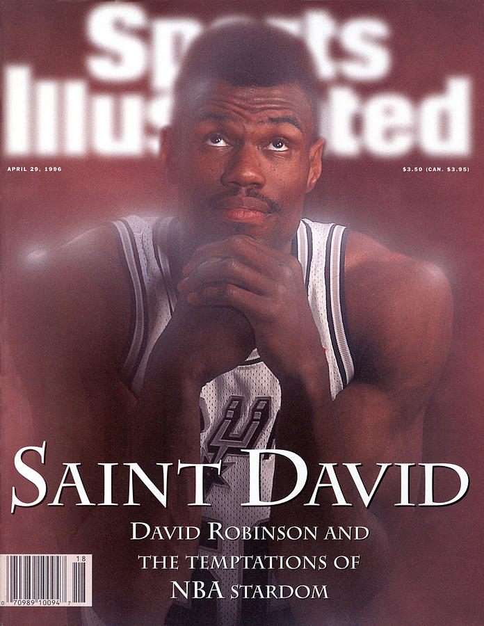 San Antonio Spurs David Robinson Sports Illustrated Cover Photograph by Sports Illustrated