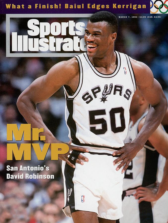 San Antonio Spurs David Robinson... Sports Illustrated Cover Photograph by Sports Illustrated