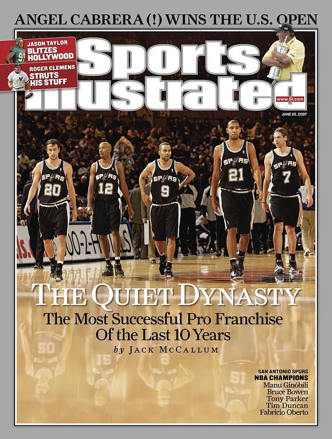 San Antonio Spurs Sports Illustrated Cover Photograph by Sports Illustrated
