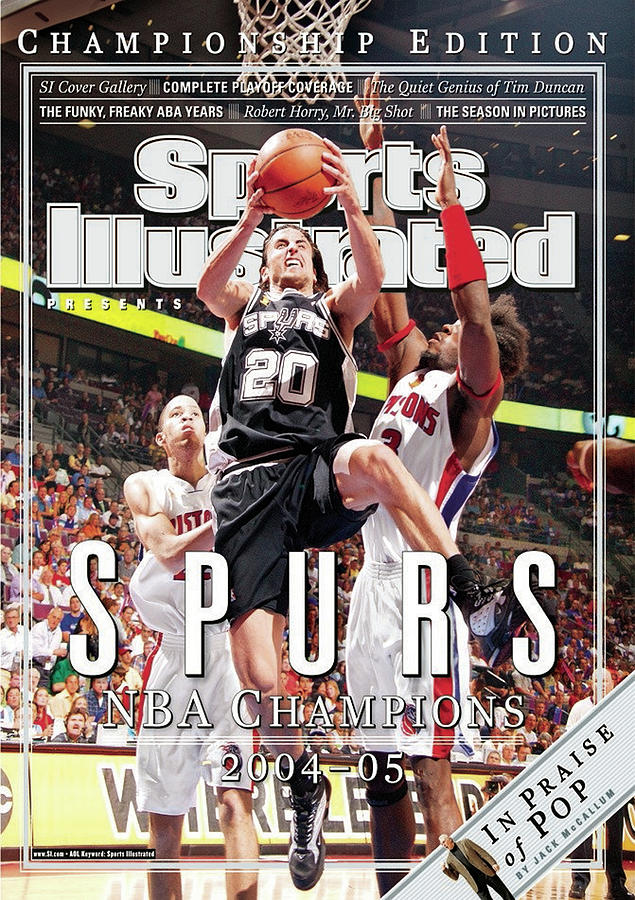 San Antonio Spurs Manu Ginobili, 2005 Nba Finals Sports Illustrated Cover Photograph by Sports Illustrated