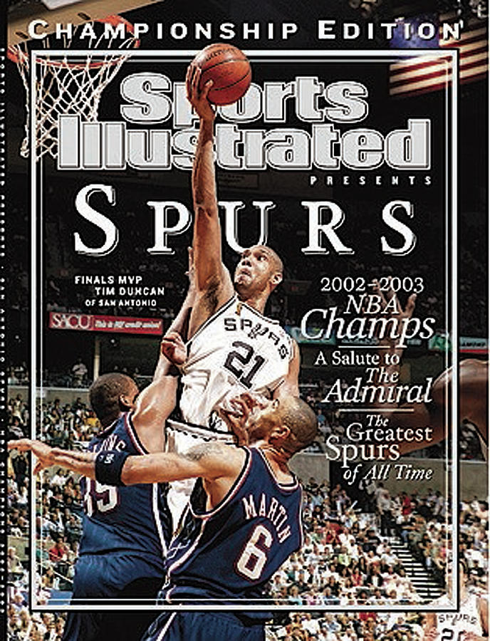 San Antonio Spurs Tim Duncan, 2003 Nba Finals Sports Illustrated Cover Photograph by Sports Illustrated
