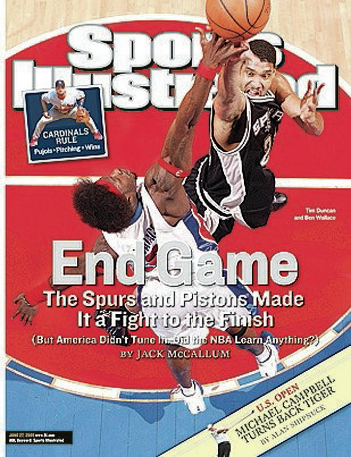 San Antonio Spurs Tim Duncan, 2005 Nba Finals Sports Illustrated Cover Photograph by Sports Illustrated