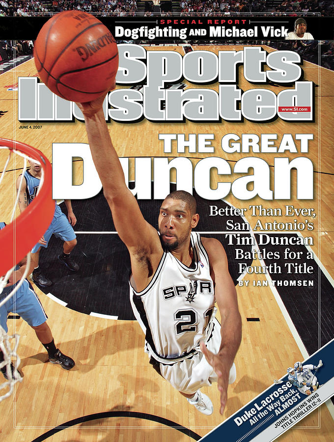 San Antonio Spurs Tim Duncan, 2007 Nba Western Conference Sports Illustrated Cover Photograph by Sports Illustrated