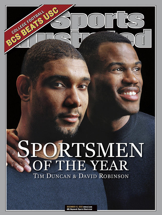 San Antonio Spurs Tim Duncan And David Robinson, 2003 Sports Illustrated Cover Photograph by Sports Illustrated