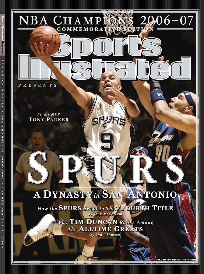 San Antonio Spurs Tony Parker, 2007 Nba Finals Sports Illustrated Cover Photograph by Sports Illustrated
