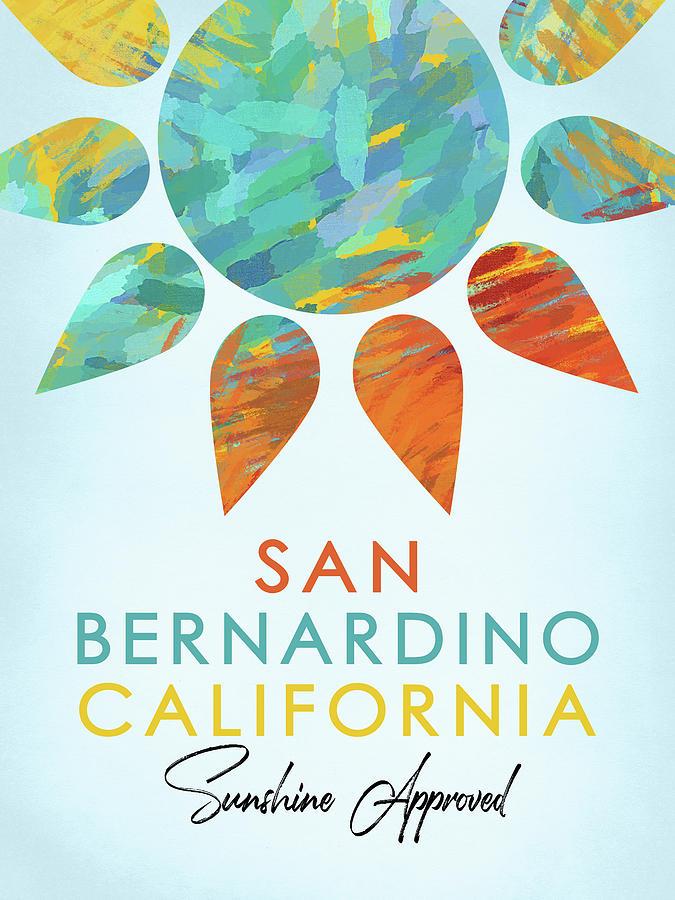 San Bernardino Digital Art - San Bernardino California Sunshine by Flo Karp
