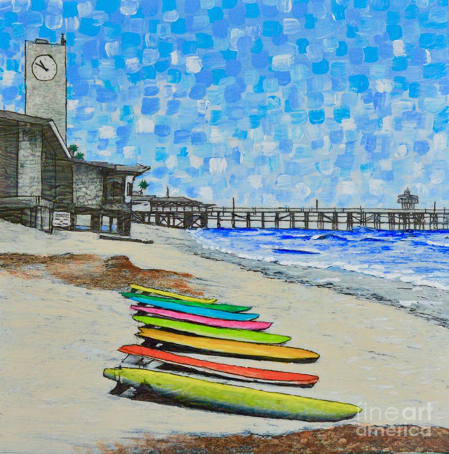 San Clemente Surf Boards by Mary Scott
