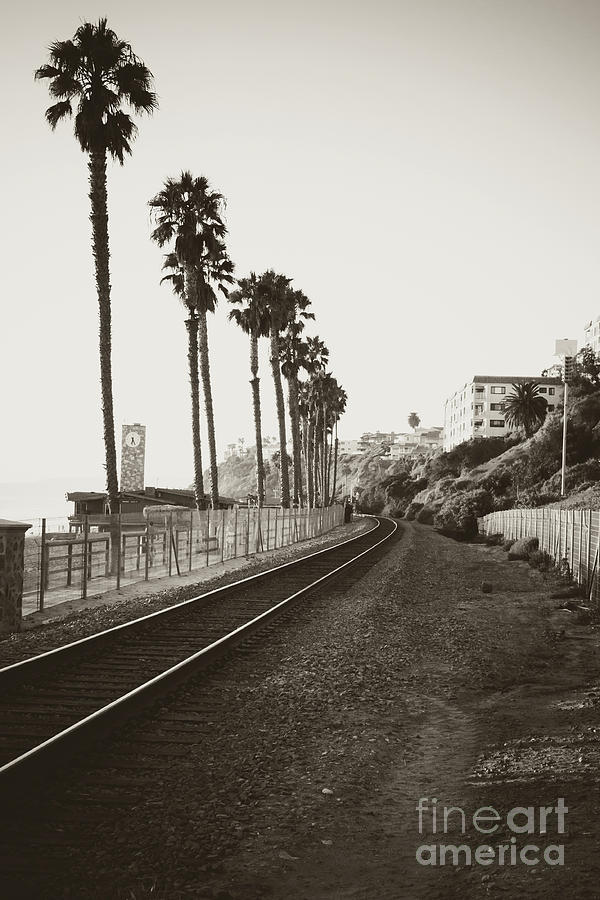 San Clemente Train Tracks by Ana V Ramirez