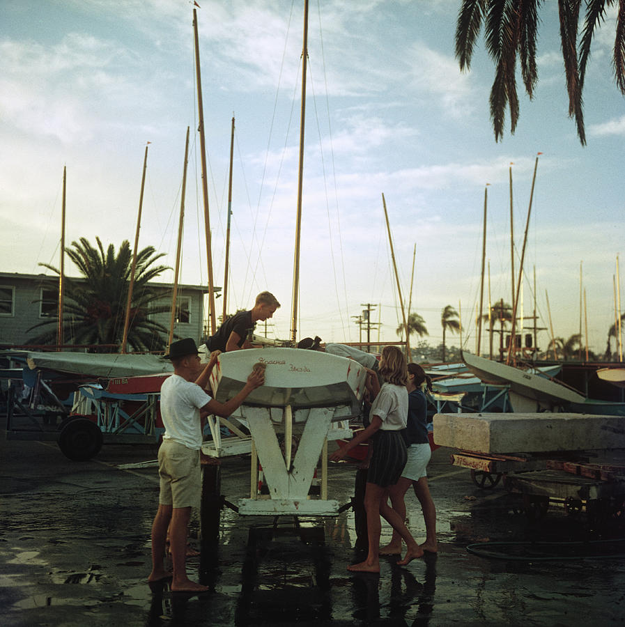 San Diego Boatyard Photograph by Slim Aarons