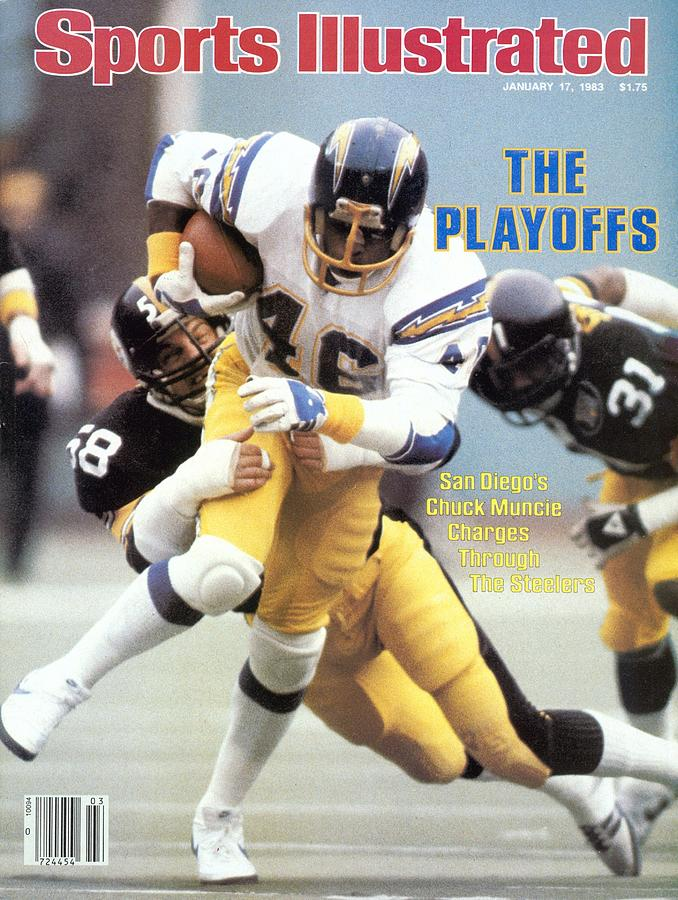 San Diego Chargers Chuck Muncie, 1983 Afc Playoffs Sports Illustrated Cover Photograph by Sports Illustrated