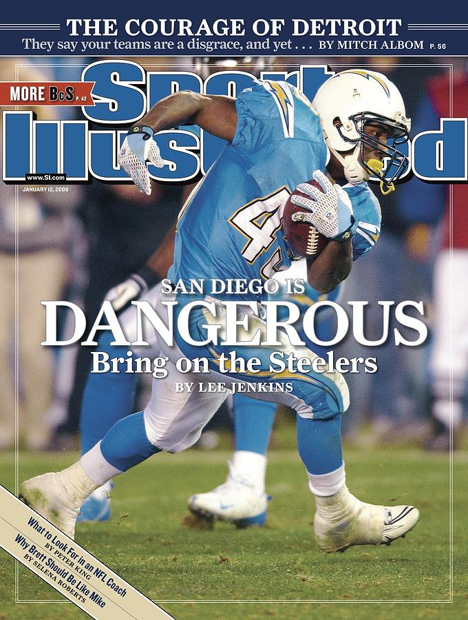 San Diego Chargers Darren Sproles, 2009 Afc Wild Card Sports Illustrated Cover Photograph by Sports Illustrated