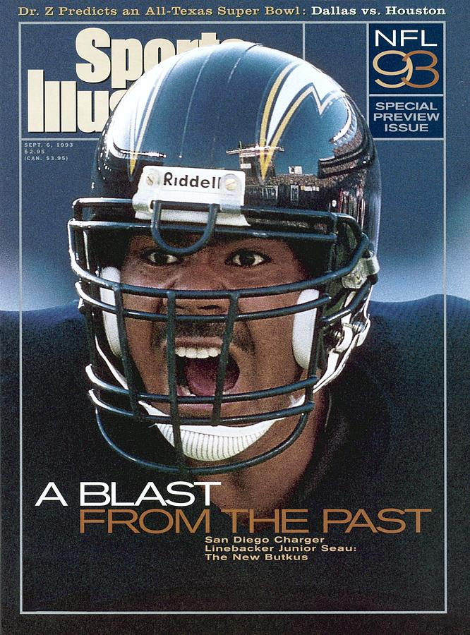 San Diego Chargers Junior Seau, 1993 Nfl Football Preview Sports Illustrated Cover Photograph by Sports Illustrated