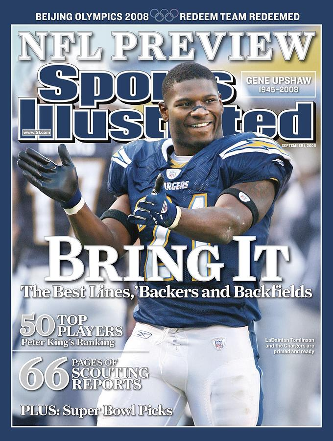 San Diego Chargers Ladainian Tomlinson... Sports Illustrated Cover Photograph by Sports Illustrated