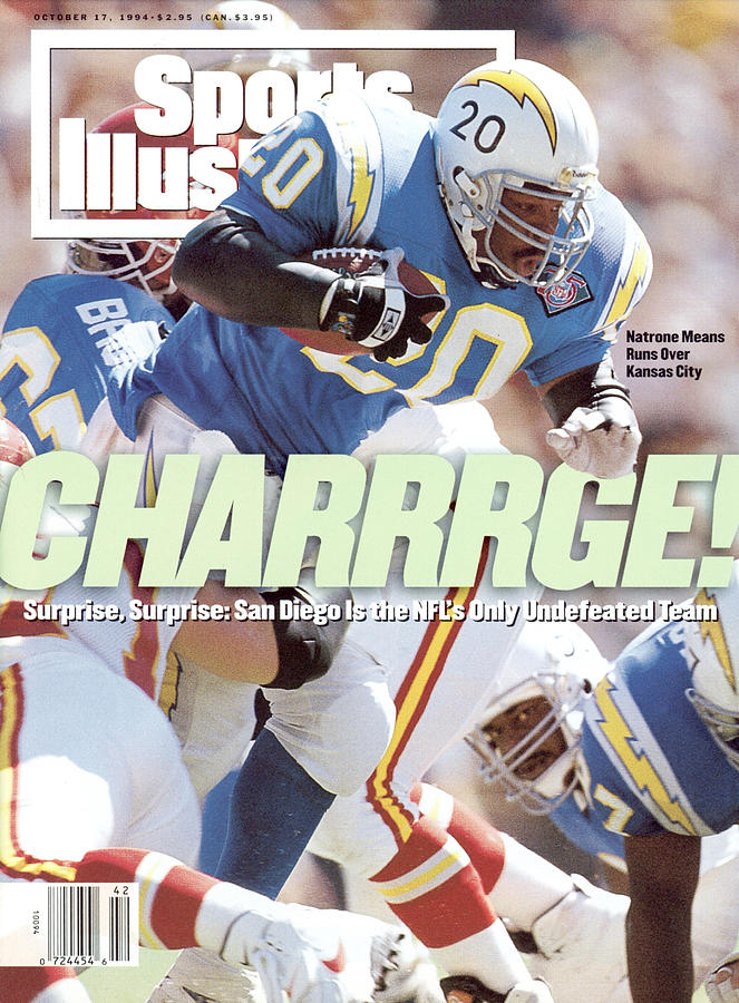 San Diego Chargers Natrone Means... Sports Illustrated Cover Photograph by Sports Illustrated