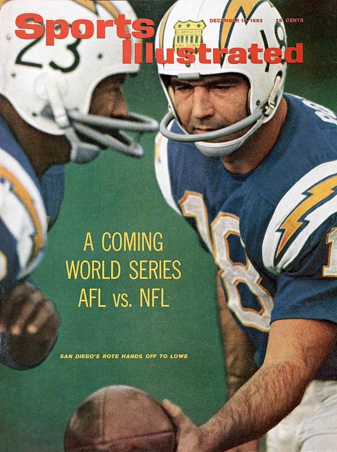 San Diego Chargers Qb Tobin Rote And Paul Lowe Sports Illustrated Cover Photograph by Sports Illustrated