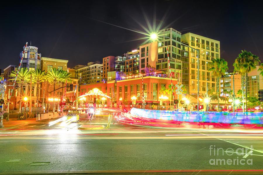 San Diego Downtown night by Benny Marty
