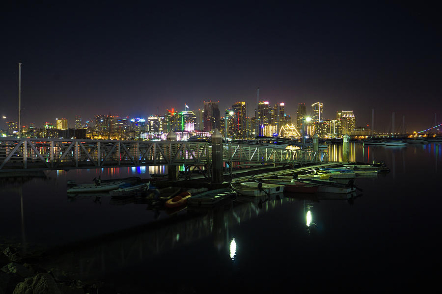 San Diego from the Dock by Richard A Brown