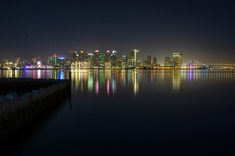 San Diego from the Harbor by Richard A Brown