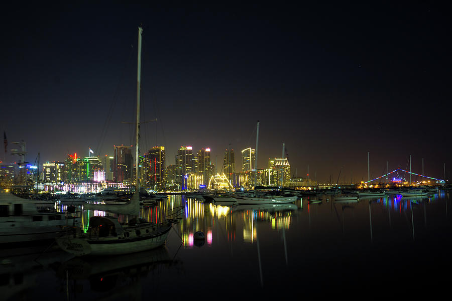 San Diego Harbor at Night by Richard A Brown