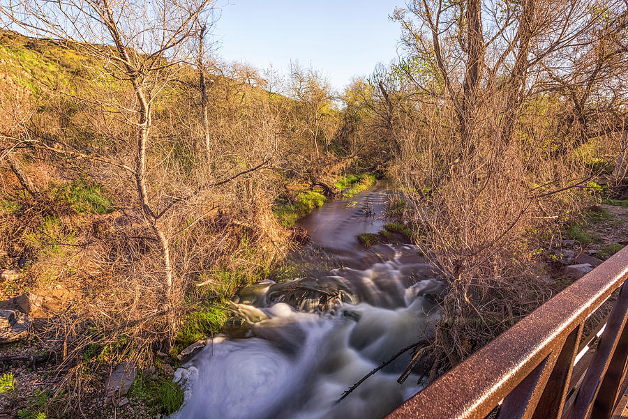 San Diego River Flows by Joseph S Giacalone