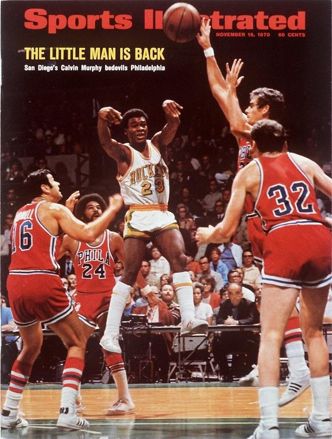 San Diego Rockets Calvin Murphy... Sports Illustrated Cover Photograph by Sports Illustrated