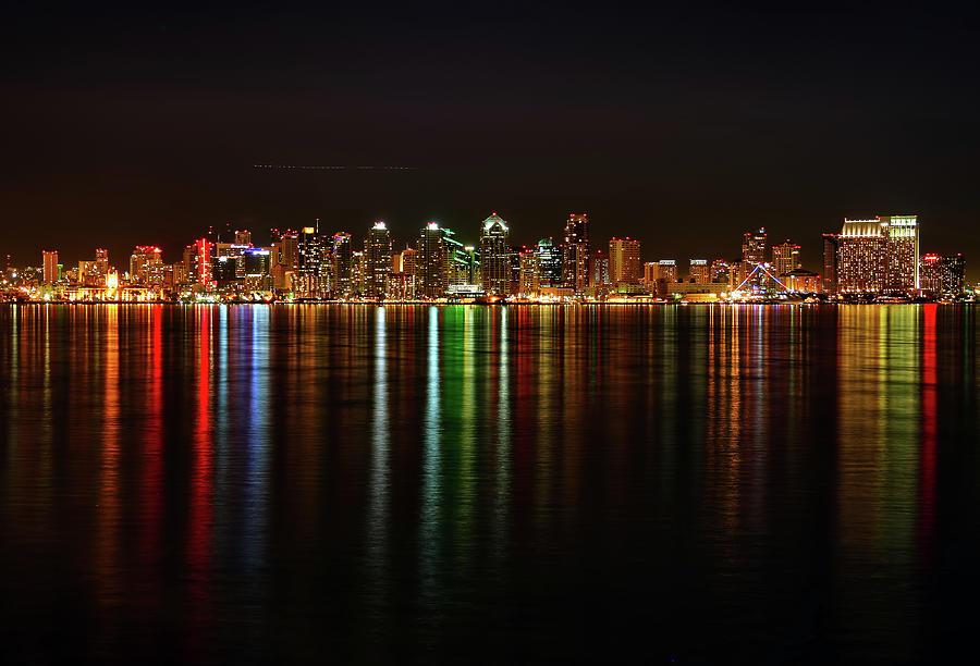 San Diego Skyline From Harbor Island Photograph by David Toussaint