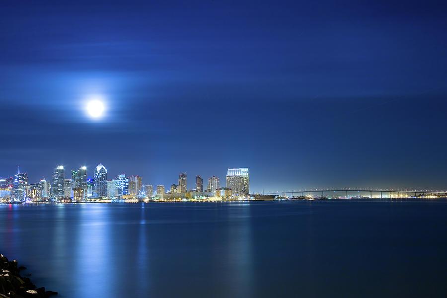 California Photograph - San Diego Skyline by Jancouver