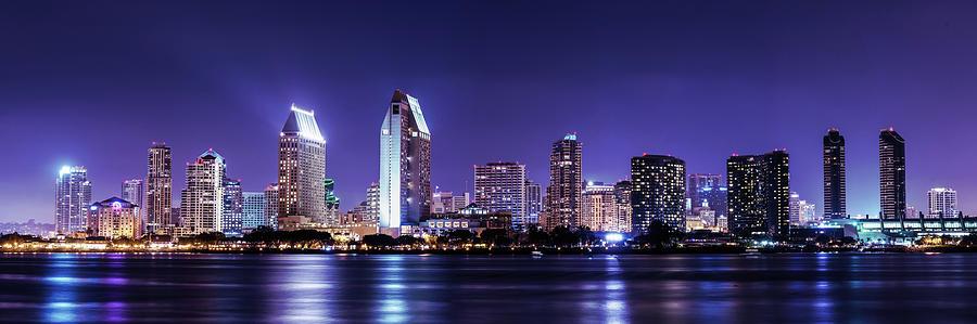 San Diego Skyline Photograph by Mos-photography