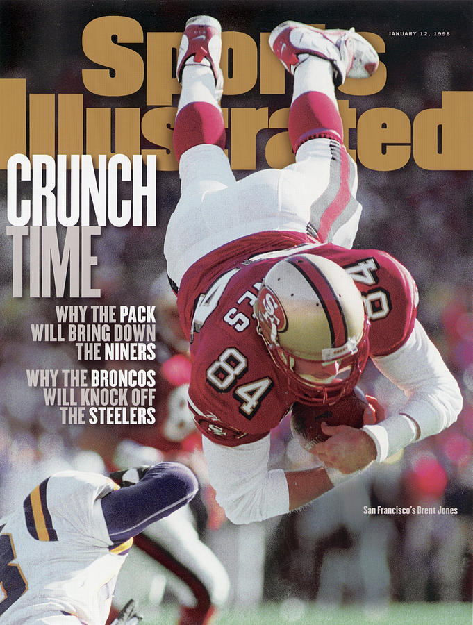 San Francisco 49ers Brent Jones, 1998 Nfc Divisional Sports Illustrated Cover Photograph by Sports Illustrated