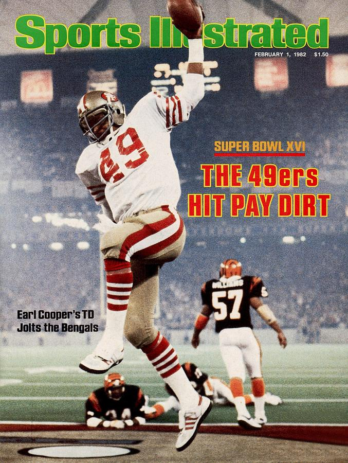 San Francisco 49ers Earl Cooper, Super Bowl Xvi Sports Illustrated Cover Photograph by Sports Illustrated
