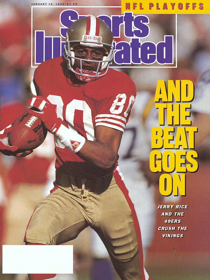 San Francisco 49ers Jerry Rice, 1990 Nfc Divisional Playoffs Sports Illustrated Cover Photograph by Sports Illustrated