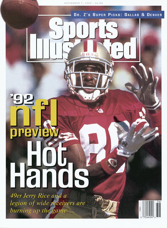 San Francisco 49ers Jerry Rice, 1992 Nfl Football Preview Sports Illustrated Cover Photograph by Sports Illustrated