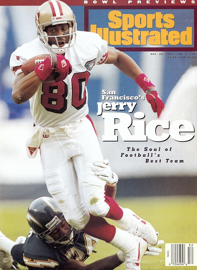 San Francisco 49ers Jerry Rice... Sports Illustrated Cover Photograph by Sports Illustrated