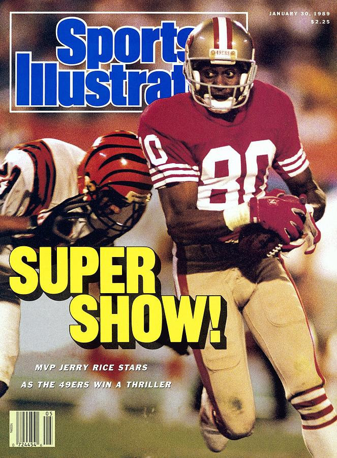 San Francisco 49ers Jerry Rice, Super Bowl Xxiii Sports Illustrated Cover Photograph by Sports Illustrated