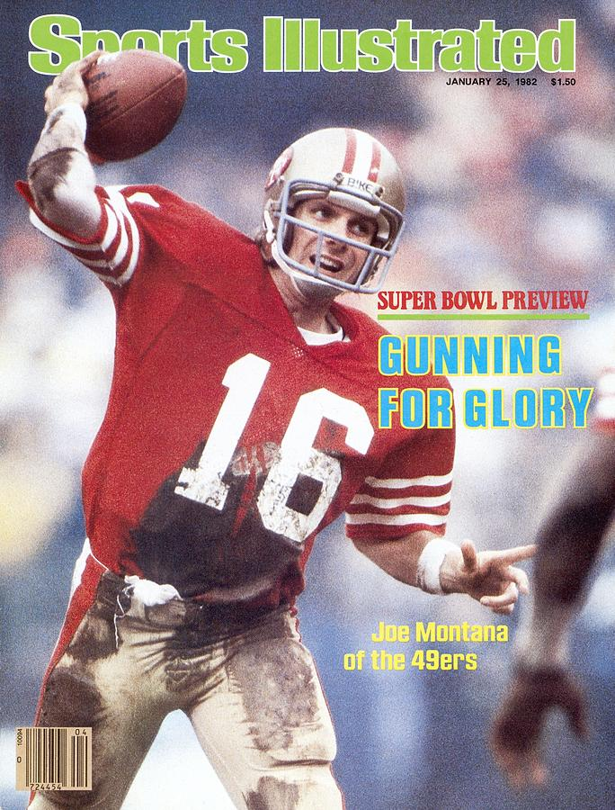 San Francisco 49ers Qb Joe Montana... Sports Illustrated Cover Photograph by Sports Illustrated