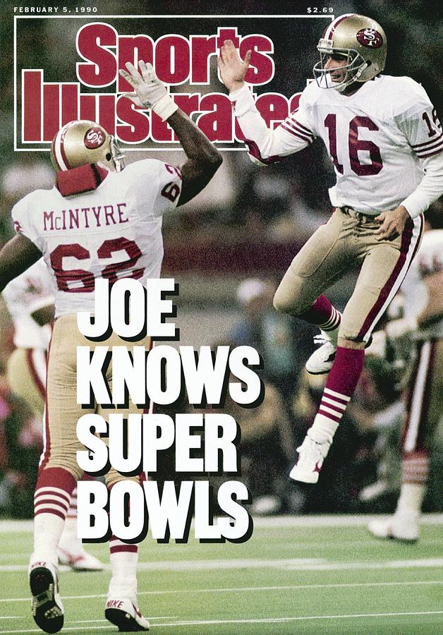 San Francisco 49ers Qb Joe Montana, Super Bowl Xxiv Sports Illustrated Cover Photograph by Sports Illustrated