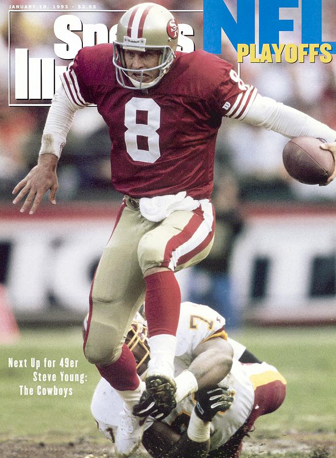 San Francisco 49ers Qb Steve Young, 1993 Nfc Divisional Sports Illustrated Cover Photograph by Sports Illustrated