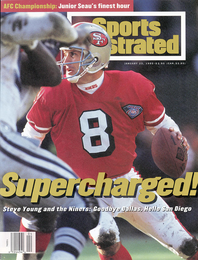 San Francisco 49ers Qb Steve Young, 1995 Nfc Championship Sports Illustrated Cover Photograph by Sports Illustrated