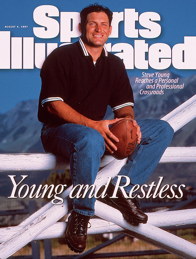 San Francisco 49ers Qb Steve Young Sports Illustrated Cover Photograph by Sports Illustrated