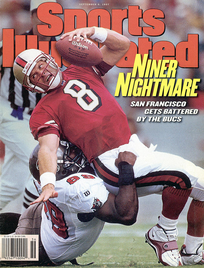San Francisco 49ers Qb Steve Young... Sports Illustrated Cover Photograph by Sports Illustrated