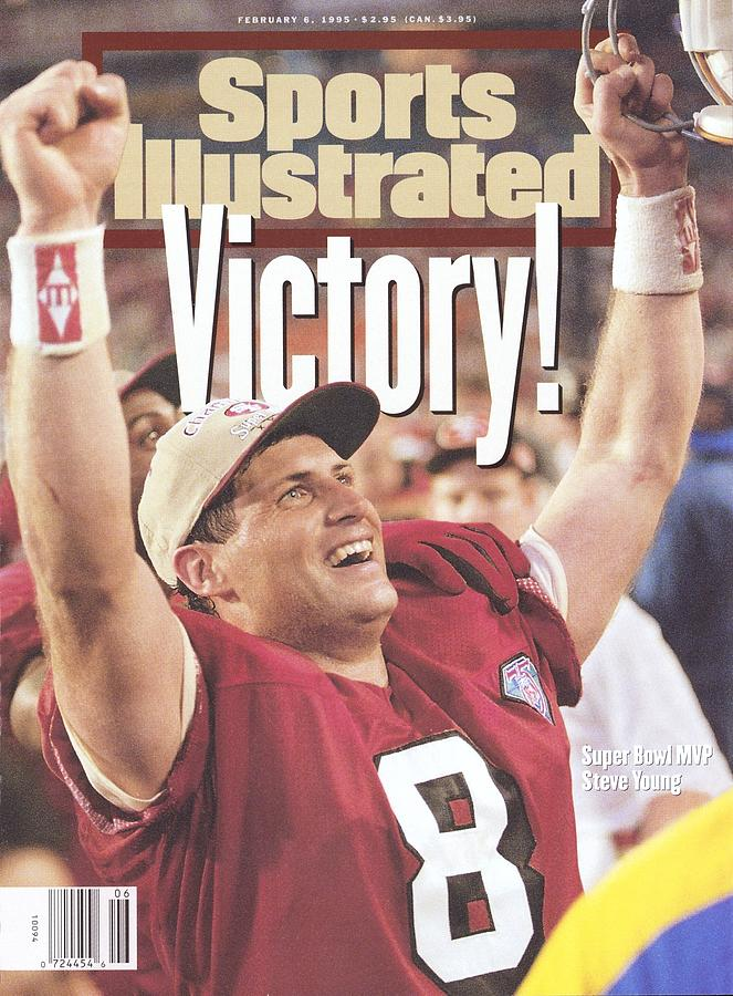 San Francisco 49ers Qb Steve Young, Super Bowl Xxix Sports Illustrated Cover Photograph by Sports Illustrated