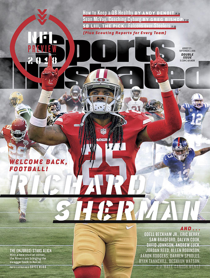 San Francisco 49ers Richard Sherman, 2018 Nfl Football Sports Illustrated Cover Photograph by Sports Illustrated